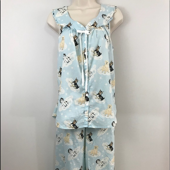 51a32c260 lanz of salzburg Other - Puppy pajamas! Dogs on clouds crop bottoms